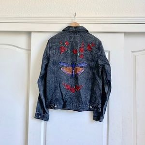 Urban Outfitters Jackets & Coats - Urban Outfitters Vintaged Embroidered Jean Jacket